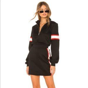 Lovers + Friends Becker zip up mini dress XXS